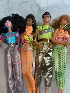 1980's Barbie And The Rockers Lot Of 4 Dolls