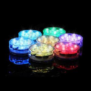 Submersible Pool Ponds Vase LED Light Waterproof Underwater Remote RGB Colors