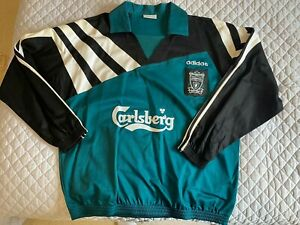 Rare Vintage Liverpool Drill Top 95/96 Large 42/44 Adidas D7 F186