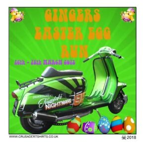 GINGERS EASTER EGG RUN SCOOTER RALLY COLLECTABLE PATCH NOT PADDY SMITH
