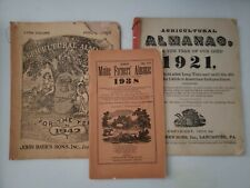 Vintage Lot of Agricultural Farmers Almanacs Antique