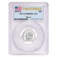 2019 S Proof Silver Roosevelt Dime First .999 Fine Silver PCGS PF 69 FS