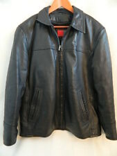 Koss Mens Black Leather Jacket wZIp Out Lining Size 42