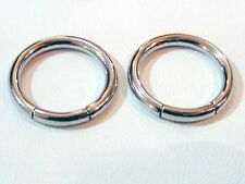 "PAIR OF 10G 9/16"" INCH SMOOTH SEGMENT CBR RINGS BODY JEWELRY RING EARRING NIPPLE"