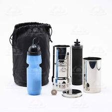 Go Berkey Kit - Water Purification-Includes Sport Berkey Bottle-Black Filter Big