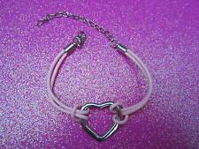 Pink Open Heart Bracelet