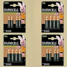 DURACELL RECHARGEABLE BATTERIES AA AAA NiMH PRE CHARGED DURALOCK STAYCHARG ULTRA