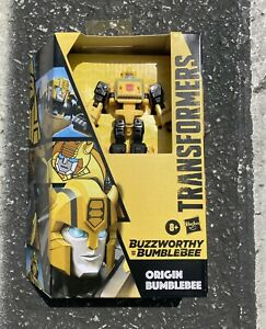 Transformers BUZZWORTHY ORIGIN BUMBLEBEE Cybertronian Deluxe Generations IN HAND