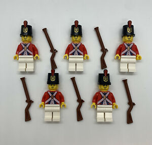 LEGO Lot of 5 Imperial Soldiers Guard Red Coats British Revolutionary Pirates