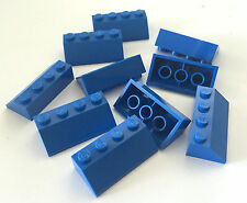 *NEW* 10 Pieces Lego BLUE Roof Tiles 2x4 Slope 45