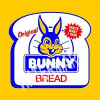 Bunny Slice Bread High Quality Metal Magnet 4 x 4 inches 9312