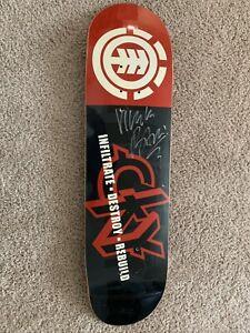 Cky Element Bam Margera Signed Skateboard Deck