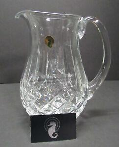 Waterford Lismore Crystal Pitcher Barware Water Pitcher Lemonade New No Box