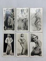 Lot Of 6 1939 Carreras Film And Stage Beauties Tobacco Cards #1 To #6 Run