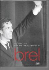 DVD ALL ZONES--JACQUES BREL--LES ADIEUX A L' OLYMPIA OCTOBRE 1966