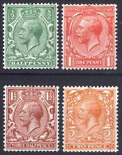 Gb 1924 1/2d-2d Gv Wmk Block Swys Sg418a-421b Sc187a-190a Lmm/Mlh Cat £139($184)