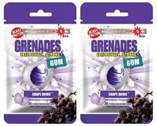 Grenades Gum Grape Bomb - 2 - PACK - Explosively Intense,Strong Gum! Sugar-Free