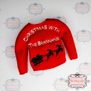 Personalised Elf on the shelf Christmas with the Family Jumper Clothes accessory