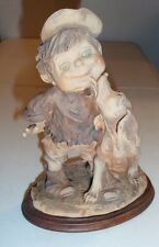 Giuseppe Armani Figurine Sculpture GULLIVERS WORLD - DOG Licking BOY - Beautiful