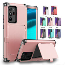 For Samsung Note 20/Ultra/Note10/S20+ S9 S8 Dust/Shockproof Card Slot Case Cover