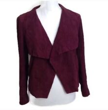 Theory Leather Jacket S P Burgundy Red Maroon Kanya L Galatia Draped Suede $845