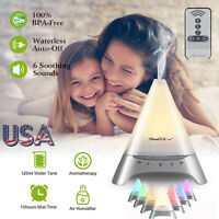 Remote Control RGB Ultrasonic Humidifier Essential Oil Diffuser Aromatherapy US