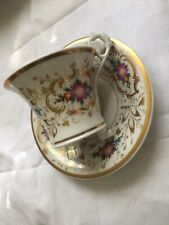 Vintage Beautiful Hand Painted Chocolate Cup & Saucer.