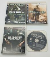 Call of Duty Lot PS3 4 Games Modern Warfare 1 + 2 Black Ops World At War TESTED
