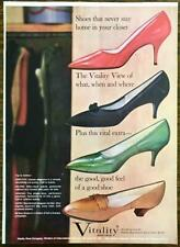 1961 Vitality Wanderlust Shoes PRINT AD Dorothy Arline Havana Capri Pumps Heels