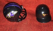 Lot of 2 Riddell pocket pro helmets Baltimore Ravens revolution and Orioles