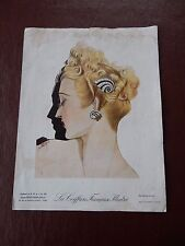 ART DECO HAIR Stylists ILLUSTRATION recent find in French SALON amazing  WW2