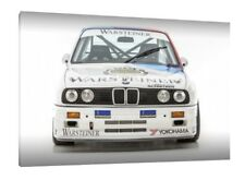 Warsteiner BMW E30 M3 - 30x20 Inch Canvas Art - Framed Picture Print Classic Car