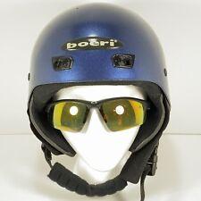 Boeri Ski Snowboard Helmet - Metallic Blue - Sz Small