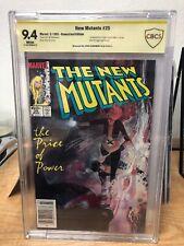 New Mutants #25 (1985) CBCS 9.4 YELLOW SIGNED WHITE PGS - Legion Cameo - NOT CGC