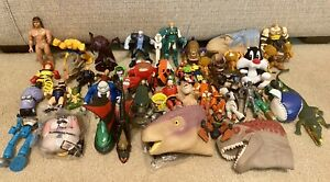 HUGE MIXED BOYS LOT OF 50 TOY FIGURES - MINIONS, INCREDIBLES, DINOS, SUPERHEROES