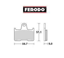 FDB2111EF Pastiglie Freno POSTERIORI HARLEY XL 1200 T Superlow 2014 >