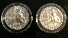 (2) 1976 S Washington Quarters Bicent 1 S Silver BU Gem And 1 S Proof Deep Cam