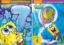 8 DVDs * SPONGEBOB SCHWAMMKOPF - SEASON 7 + 8 IM SET # NEU OVP +