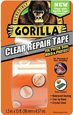 "Gorilla Clear Repair Duct Tape, 1.5"" x 5 yd., Clear"