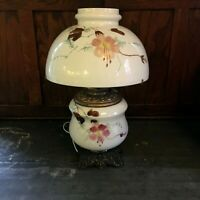 Antique Gone With The Wind Hand Painted Parlor Oil Lamp Victorian Era GWTW