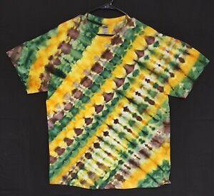 Handmade Unisex XL Ice Tie Dye T-Shirt Gildan Crew Short Sleeve 100% Cotton