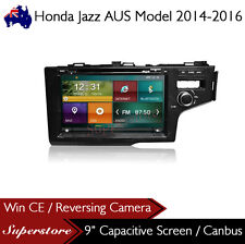 "9"" Car DVD GPS Navigation Head Unit Stereo Radio For Honda Jazz RHD 2014-2017"