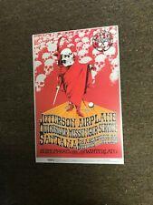 Jefferson Airplane Grateful Dead Benefit Winterland Cardstock Concert Poster