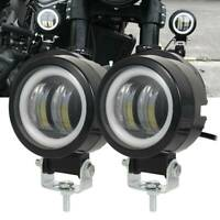 2x Moto Moto Brouillard Phare LED Spot Travail Lumières Ampoule Universel BR