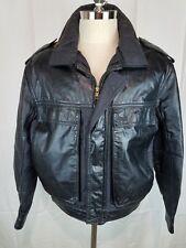 Oleg Cassini Men's Leather Bomber Jacket Size 42