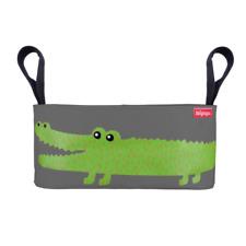 IBIYAYA Pet Pram Stroller Organizer - Gray with Crocodile