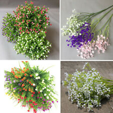 1X Baby's Breath Flower Plant Artificial Gypsophila Home Wedding Ornament Red