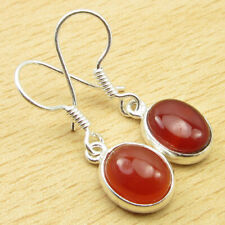 """Earrings 1.2"""" Fashion Jewelry Collection Brand New 925 Silver Plated Carnelian"""