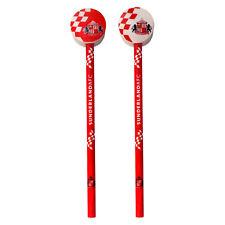Sunderland AFC officiel - Lot de 2 crayons avec décoration - thème football