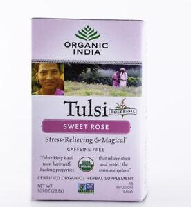 Organic India - Tulsi Sweet Rose Tea - 18 Bags, 1.01 oz.
